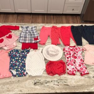 23 pc baby girl bundle
